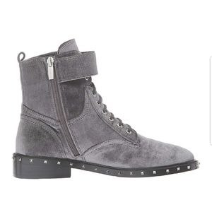 Vince Camuto Shoes - Vince Camuto studded lace up moto booties